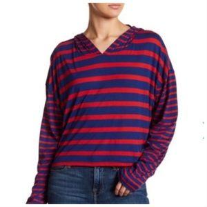 NWT Free People Ref Stripe Hoodie